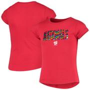 Washington Nationals New Era Girls Youth Flip Sequin T-Shirt - Red