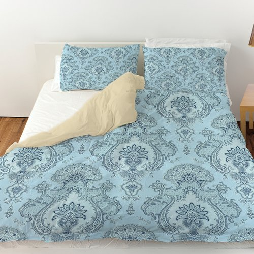 Manual Woodworkers & Weavers Damask Pattern Duvet Cover