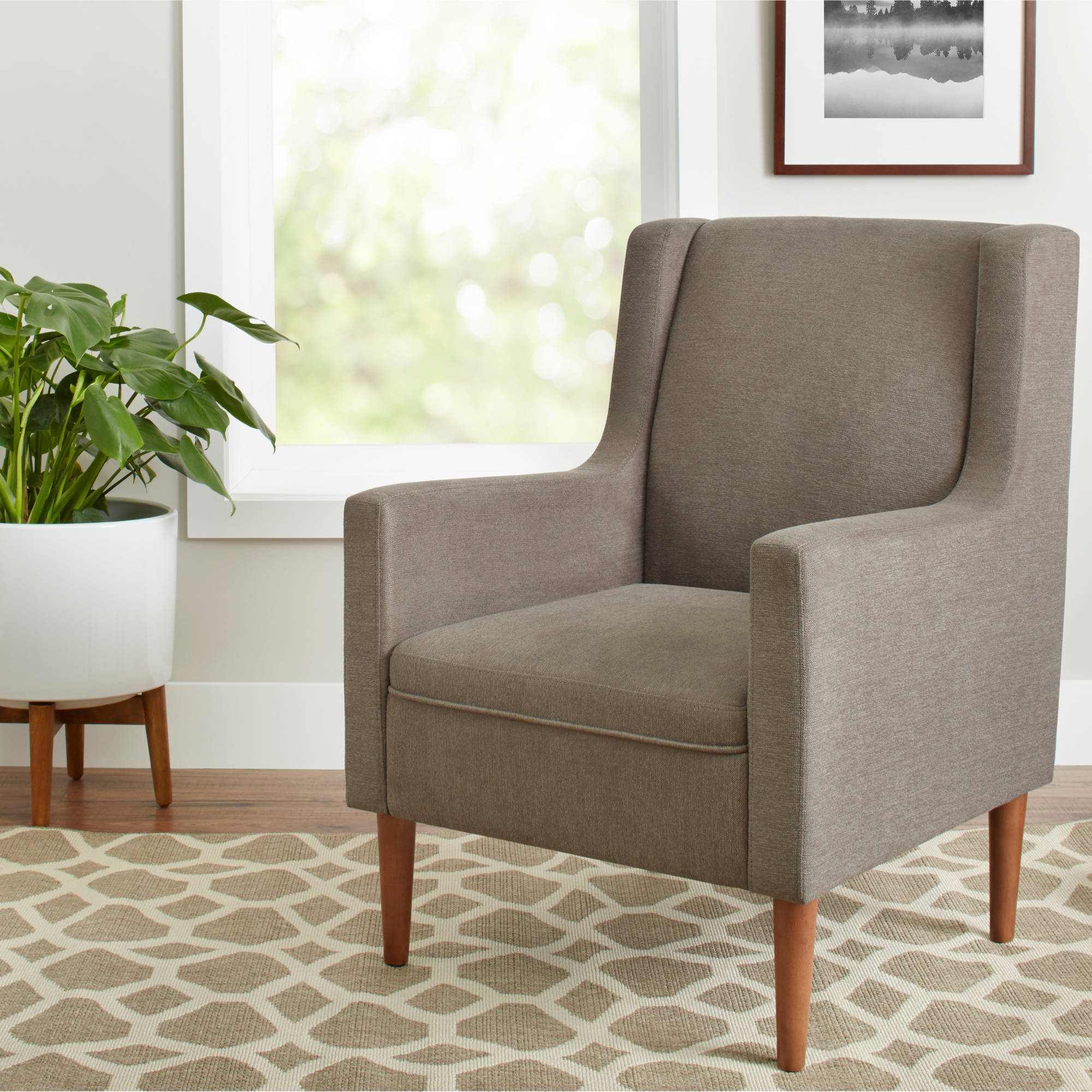 Better Homes and Gardens Flynn Mid Century Modern Lounge Chair, Multiple Colors