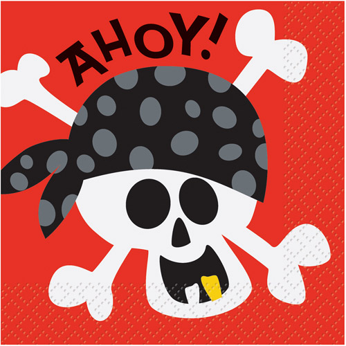 Pirate Party Beverage Napkins, 16ct