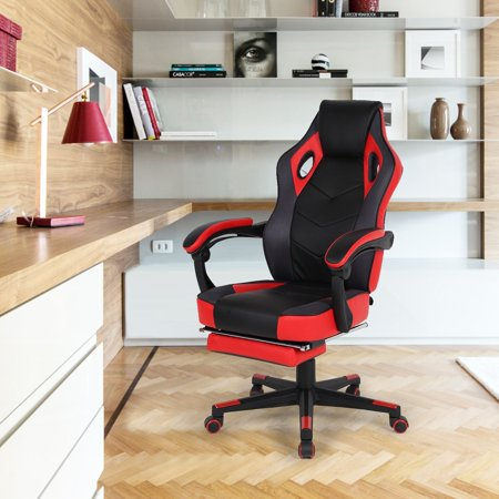 Strange Homycasa Ergonomic Racing Gaming Office Chair High Back With Retractible Footrest Squirreltailoven Fun Painted Chair Ideas Images Squirreltailovenorg