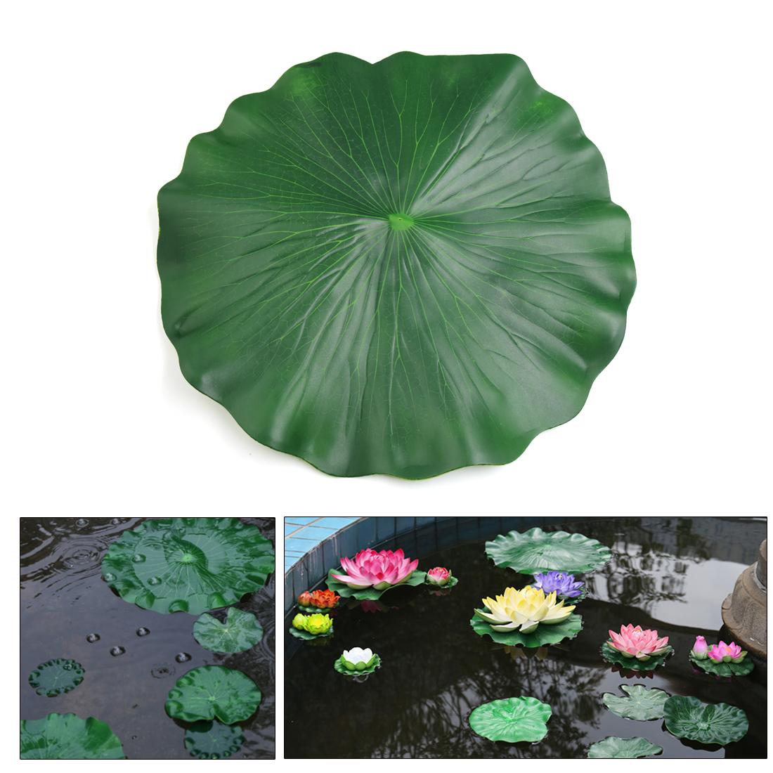 Green Foam Lotus Leaf Aquarium Pond Decor Floating Plant Ornament 60cm Diameter