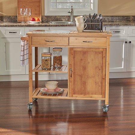 Linon Roberts Bamboo Kitchen Cart ()