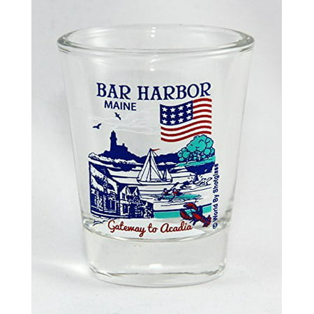 Bar Harbor Maine Great American Cities Collection Shot Glass (Party City In Maine)