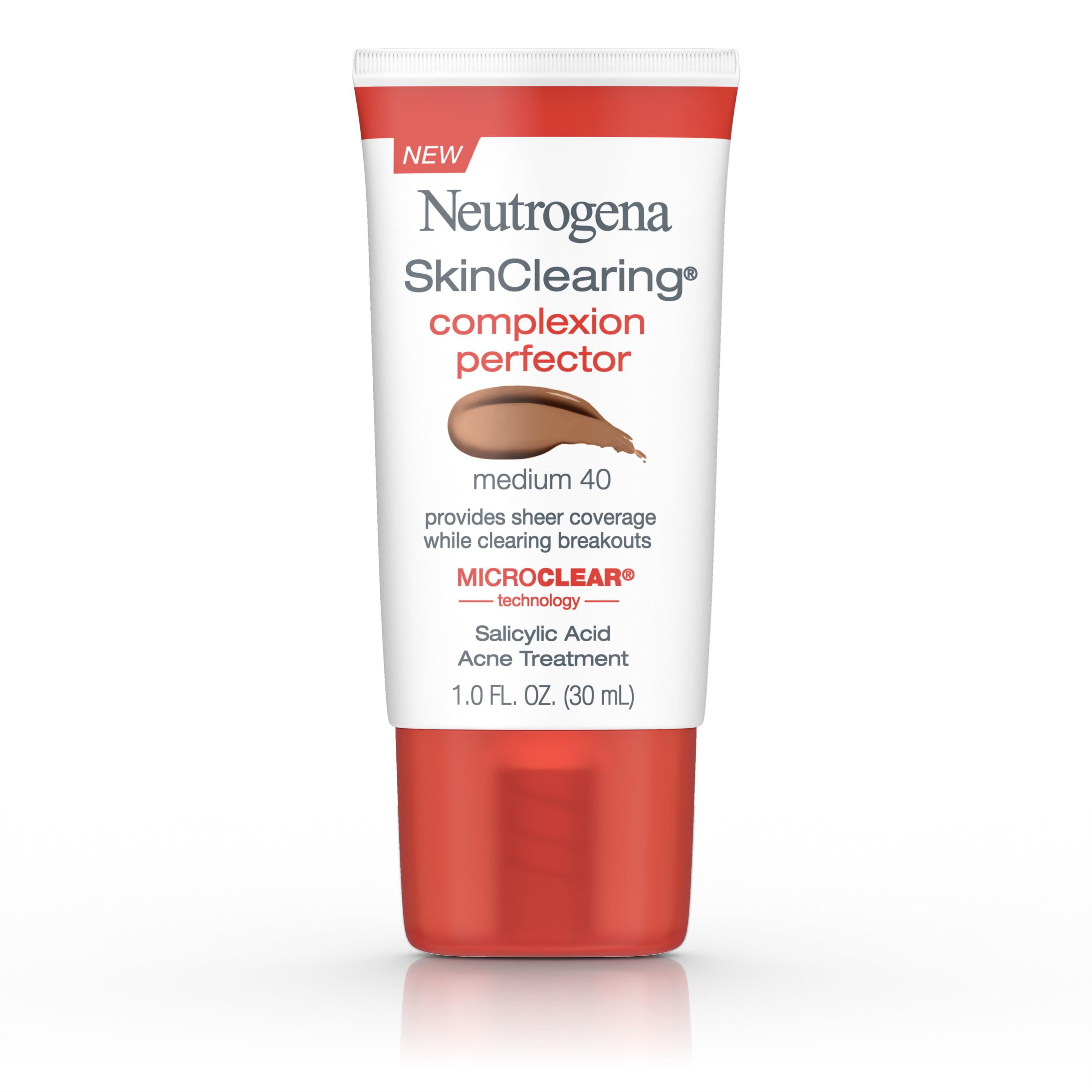 Neutrogena Skinclearing Complexion Perfector With Salicylic Acid, Medium, 1 Fl. Oz.