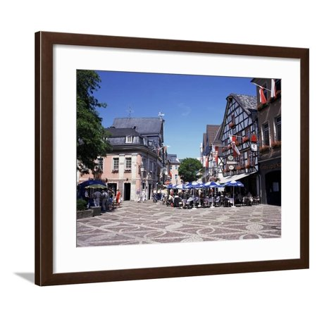 Cafes in the Centre of Town, Ahrweiler Town, Ahr Valley, Rhineland Palatinate, Germany Framed Print Wall Art By Gavin Hellier - Compton Town Center