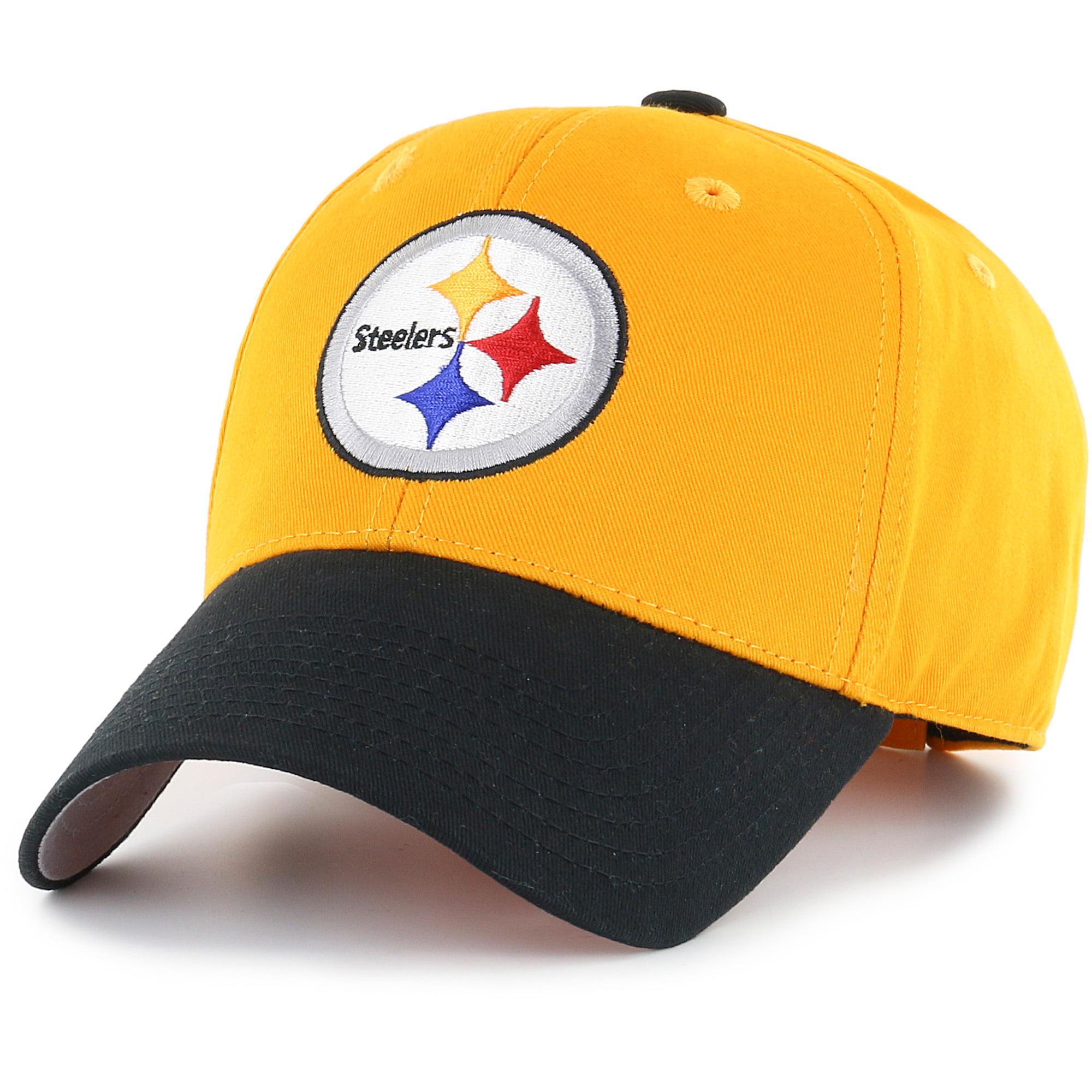 Men's Fan Favorite Gold/Black Pittsburgh Steelers Two-Tone Adjustable Hat - OSFA