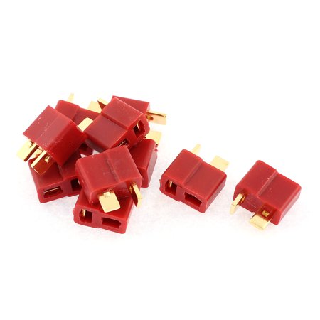 Esc Radio (10 Pcs T Plug Female Connectors for RC Airplane Aircraft LiPo Battery)