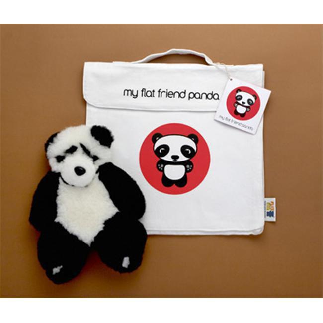 Flat Friends PANDLC Panda Bear Soft Plush Toy And Carry Bag