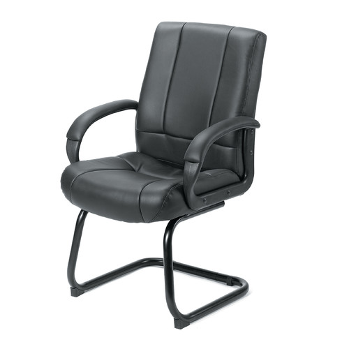 Symple Stuff Pastrana Leather Guest Chair