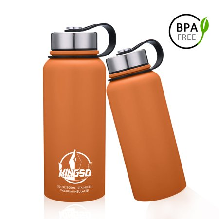 900ml/30 oz Double Wall Vacuum Cool Insulation Stainless Steel Water Bottle Leak- proof and No Sweating Perfect for Summer Outdoor Sports Camping Hiking (Sports And Outdoors)