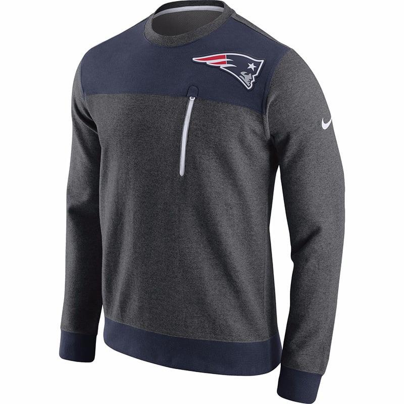 Nike Men's New England Patriots AV15 Fleece Crew Sweatshirt 747548-071