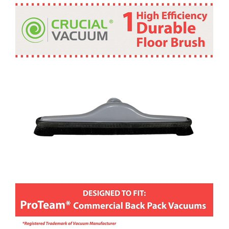 Vacuum Inches Hg (14-inch Floor Brush Tool Attachment For All Vacuum Cleaners w/1-1/4 Inch (32mm) Openings; Compare to Proteam Part No. 100144; Designed & Engineered by Think Crucial By Crucial Vacuum )