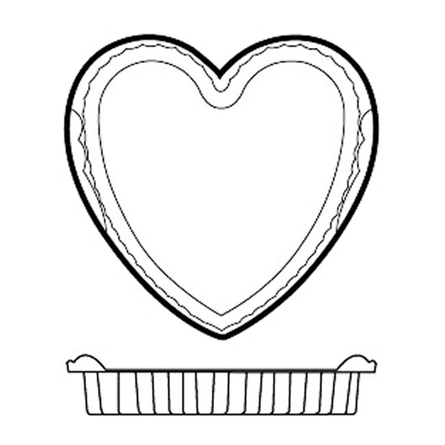 Paderno World Cuisine 47786-04 Non-Stick Silicone Mold  Heart