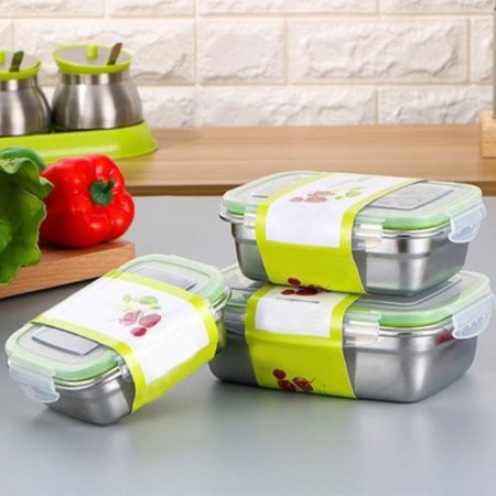 1 Layer Stainless Steel Thermal Insulated Lunch Box Bento Food Container NEW Bento Stainless Steel Lunch Jar