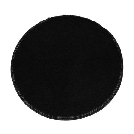 Soft Bath Bedroom Floor Shower Round Mat Rug Non-slip Black ()