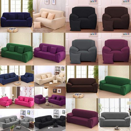 WALFRONT Sofa Cover Slipcover Stretch Elastic 1/2/3/4Seater Chair Loveseat Sofa Couch Furniture Protector Fit, Sofa Slipcover ()