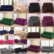 WALFRONT Sofa Cover Slipcover Stretch Elastic 1/2/3/4Seater Chair Loveseat Sofa Couch Furniture Protector Fit, Sofa Slipcover