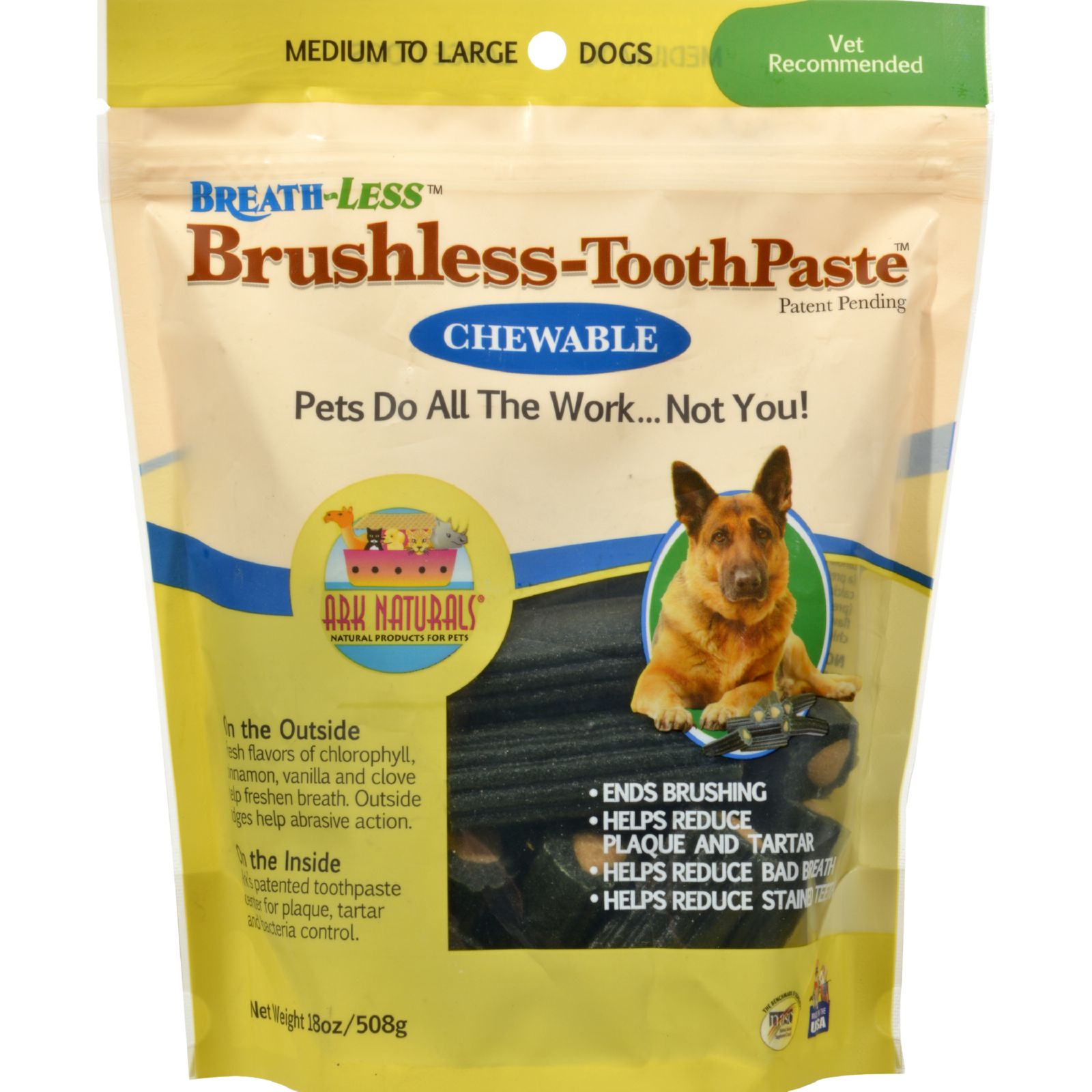 Ark Naturals BREATH-LESS Brushless-Toothpaste, M/L, 18 oz.