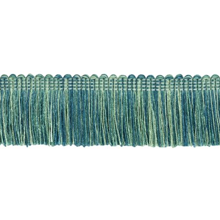 1.5' Brush Fringe (5 Yard Value Pack|Teal, Aqua Blue, Light Mint Duke Collection Brush Fringe Trim|2