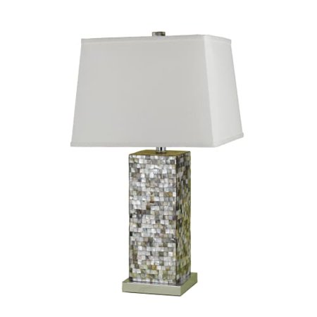 Image of AF Lighting 6671-TL Sahara Single Light 27 Inch Tall Table Lamp with White Shade