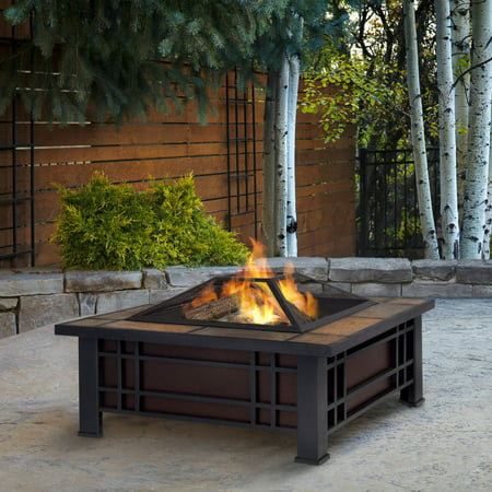 Real Flame Morrison Fire Pit with FREE Cover