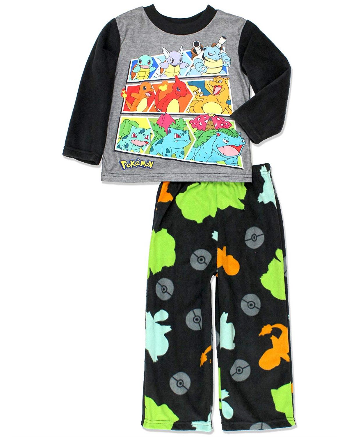 Pok/émon Boys Catch Em All Luxe Plush 2-Piece Pajama Set Pajama Set
