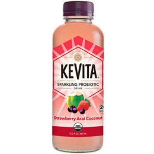 KeVita Strawberry Acai Coconut Sparkling Probiotic Drink, 15.2 fl oz