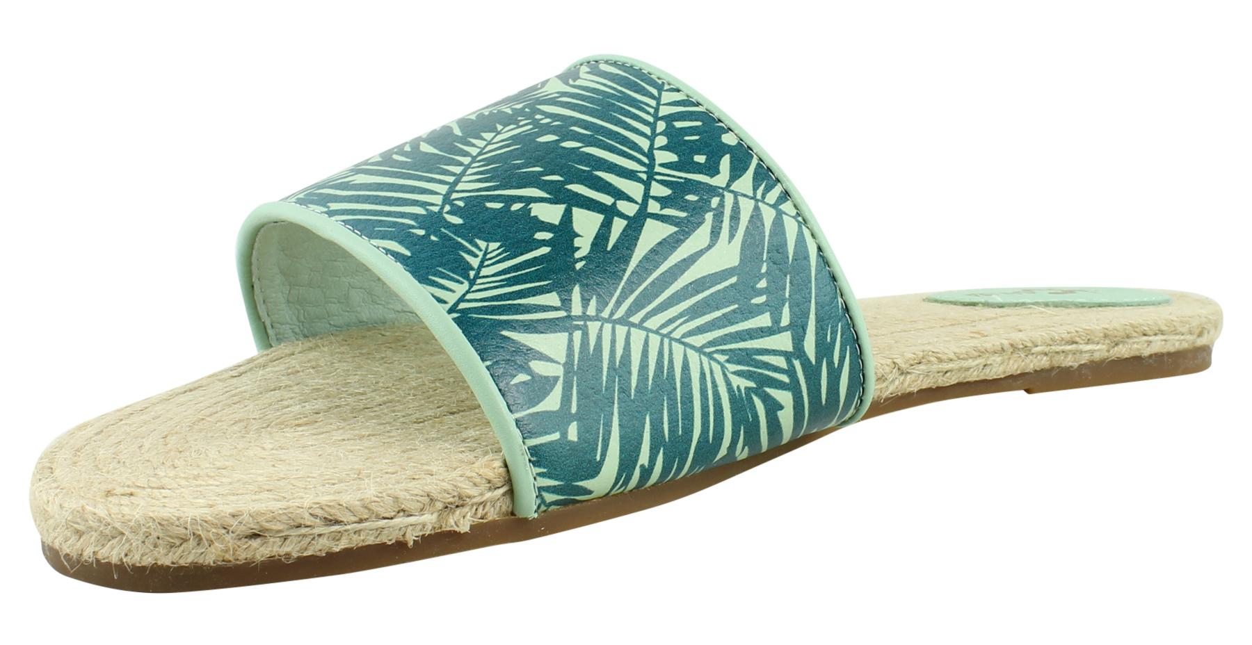 Yosi Samra Womens Sage/Pine Slide Sandals Size 11 New - Walmart.com