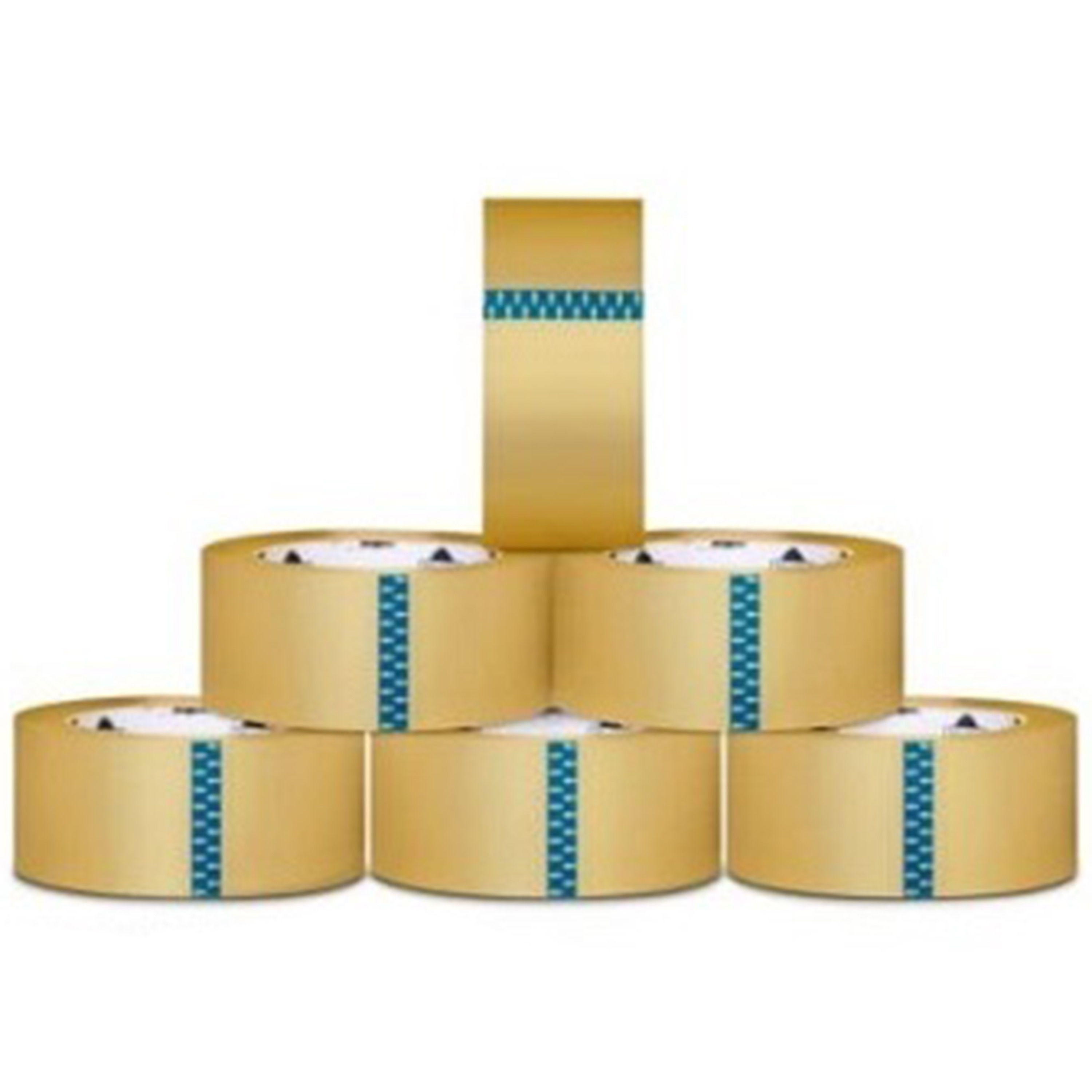 Packagingsuppliesbymail 6 ROLLS Carton Box Sealing Packaging Packing Tape 1.6 Mil 2 Inch x 110 yard (330 ft)