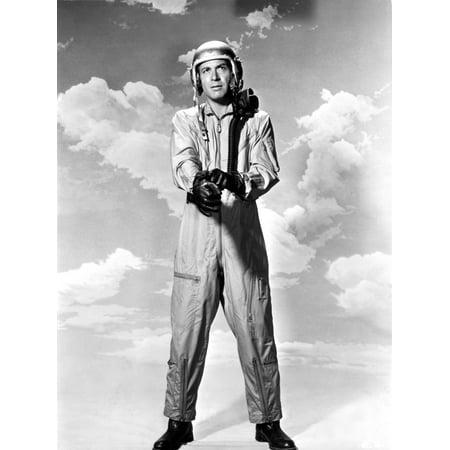 Efrem Zimbalist in a pilot uniform Photo Print (Pilot Uniform)