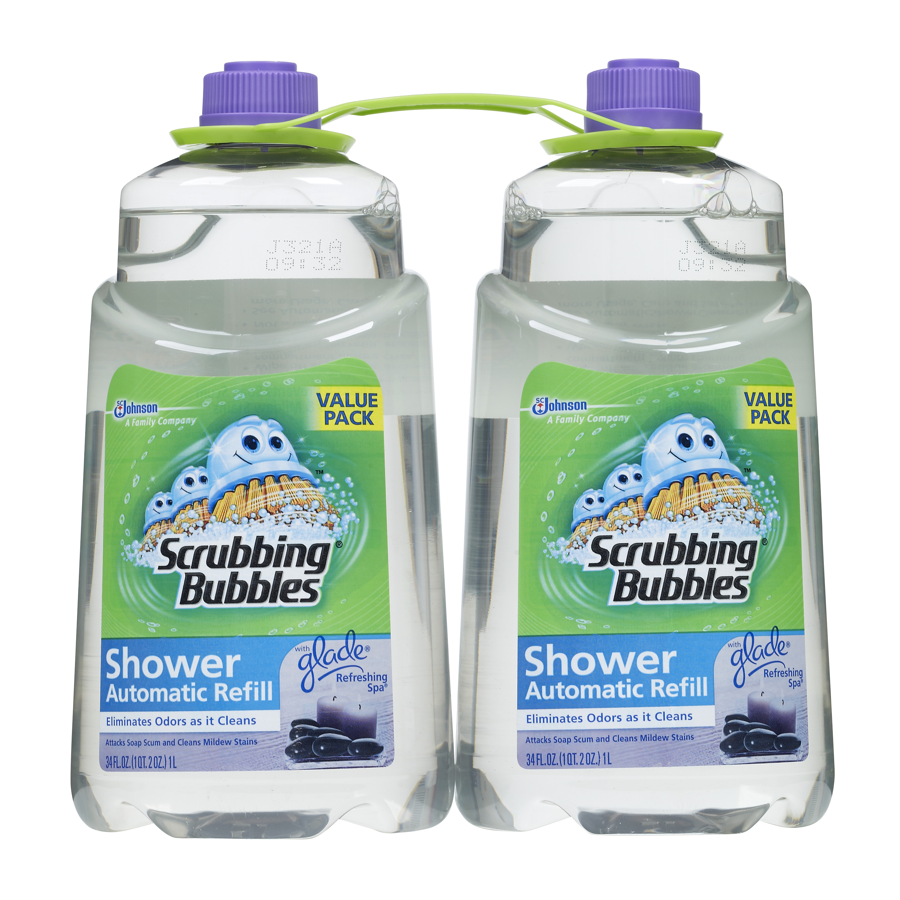 Scrubbing Bubbles Automatic Shower Cleaner Refill, Refreshing Spa, 64 Fluid Ounces, 2 count