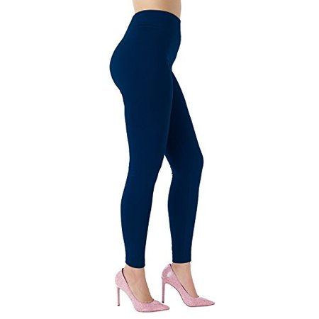 935e337a43 Peach Couture - Peach Couture High Waist Slimming Seamless Fleece Lined  Winter Leggings Yoga Pants Blue Small/Medium - Walmart.com