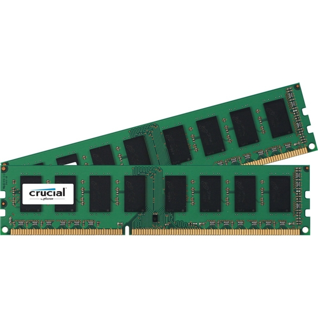 Crucial 4GB (2x2 GB) DDR3 PC3-12800 Unbuffered Non-ECC 1.50 V Memory Module