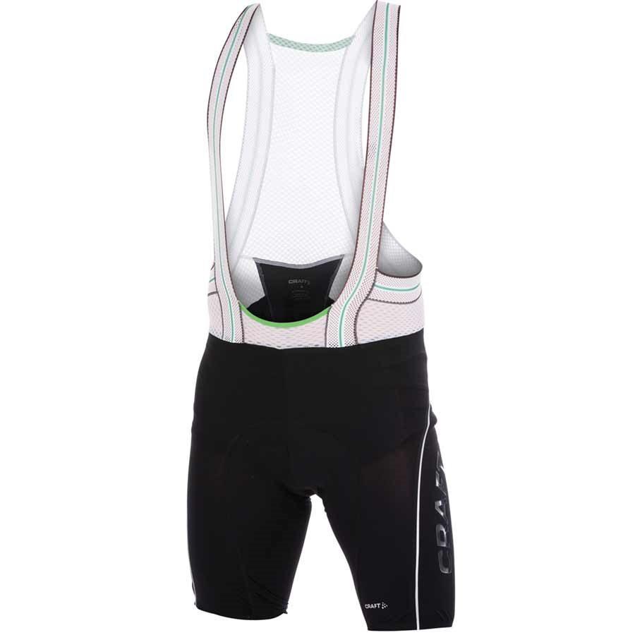 Craft Men Tech Bib Shorts SM Black   White by Craft