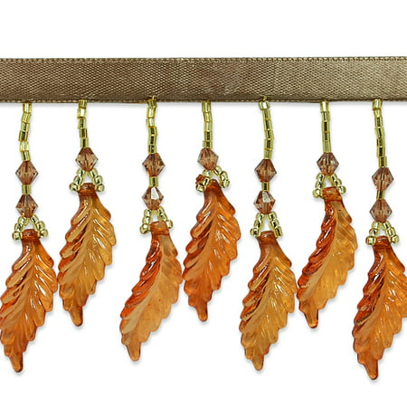 Expo Int'l 2 yards of Acrylic Leaf Beaded Fringe Trim