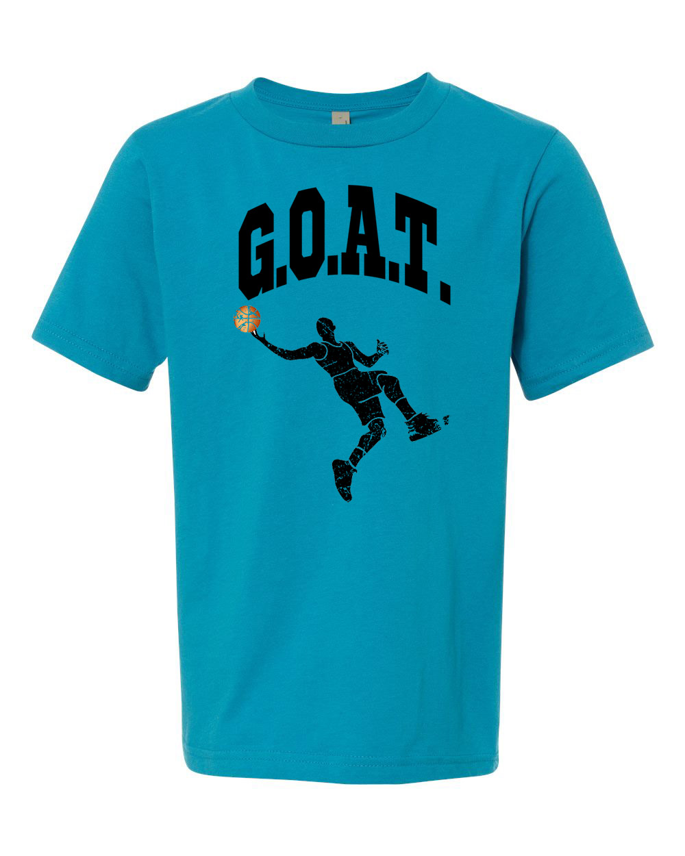 Greatest All Times G.O.A.T Basketball Youth Short Sleeve T-Shirt