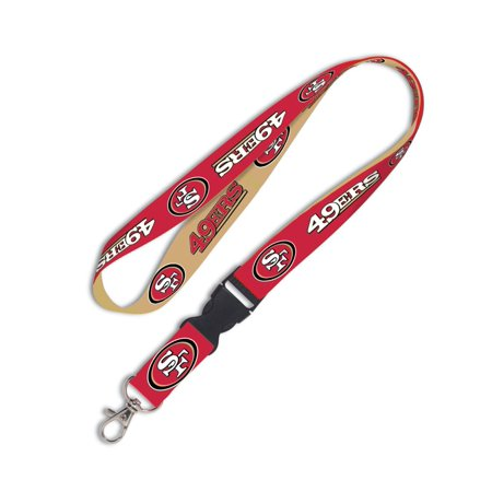 San Francisco 49ers Official NFL 20 inch Lanyard Key Chain Keychain by Wincraft