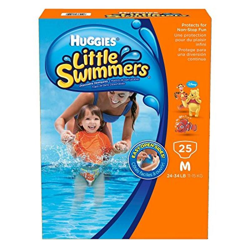 Huggies Little Swimmers Disposable Swimpants (Character May Vary), Medium 25 Count (Medium)