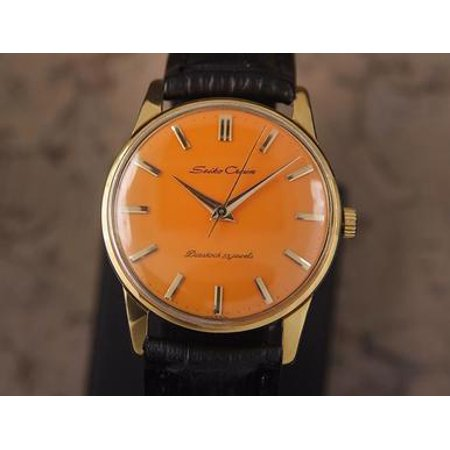 Seiko Crown Made in Japan 1960 Gold Plated Manual 35mm Men Dress Watch DSI14