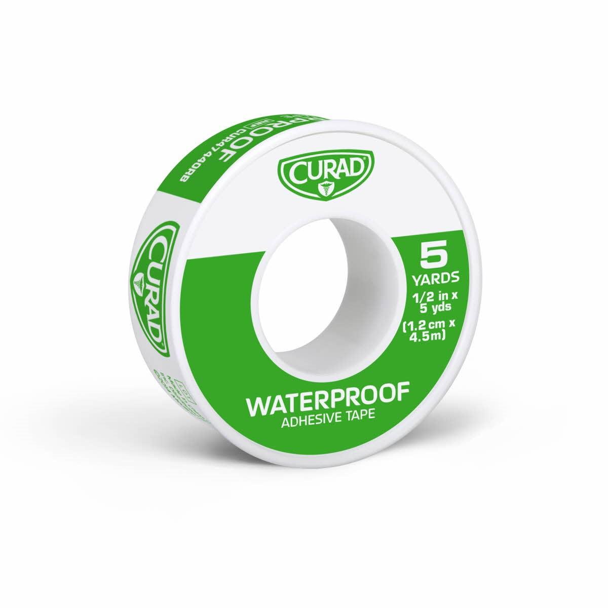 Curad Waterproof Adhesive Tape, White, 5 Yds