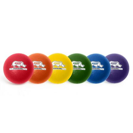 Champion Sports Set (Champion Sports Rhino Skin® 6-Inch Low Bounce Dodgeball Set, Assorted Colors, Set of 6 )