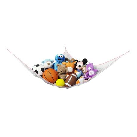 Jungle Basket - Whitmor Jumbo Toy Hammock Net Organize Stuffed Animals And Kids Bath Toys