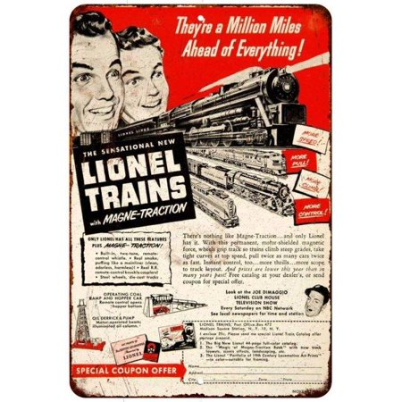 1950 Lionel Trains Vintage Look Reproduction 8X12 Metal Sign 8120930