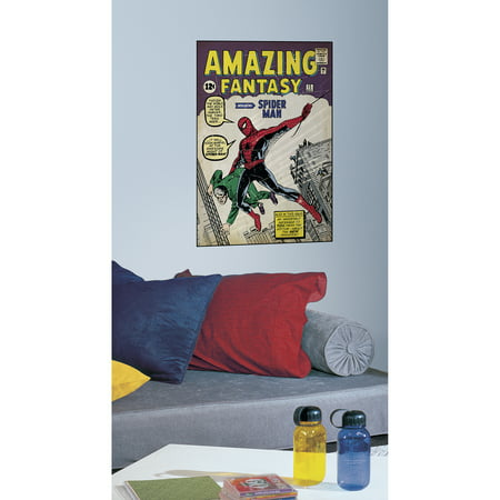 RoomMates Comic Book Cover, Spiderman #1 Peel and Stick Comic Book Cover