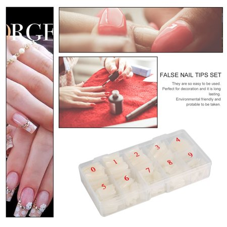 Easy-life 500 Pieces Full Cover French Artificial False Nail Tips For DIY In Box - image 2 of 6