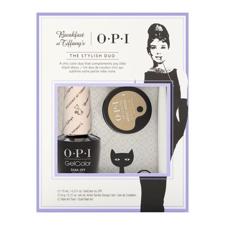 OPI Breakfast at Tiffany's Art Series Set GelColor + Design Gel w/Brush HPH35 - Breakfast at Tiffany's