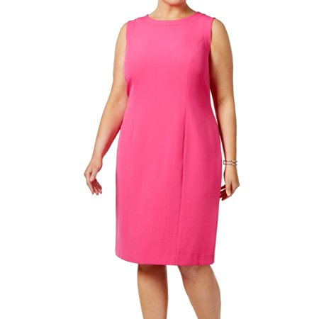 Kasper NEW Pink Perfection Women's Size 24W Plus Crepe Sheath Dress