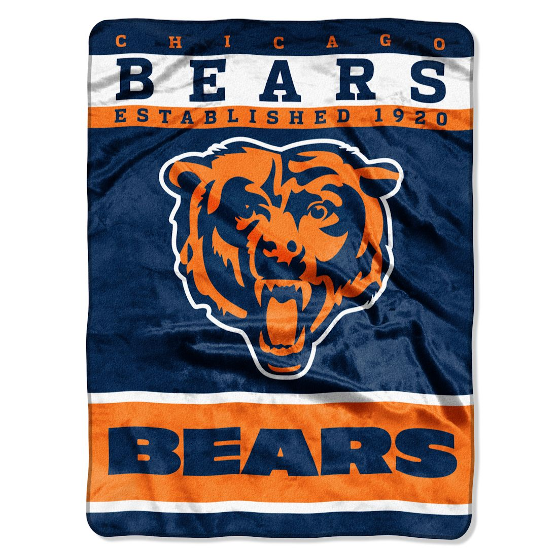 "Chicago Bears 60""x80"" Royal Plush Raschel Throw Blanket - 12"