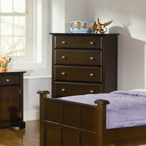 Coaster Jasper Tall Chest with 5 Drawers, Cappuccino by Coaster of America